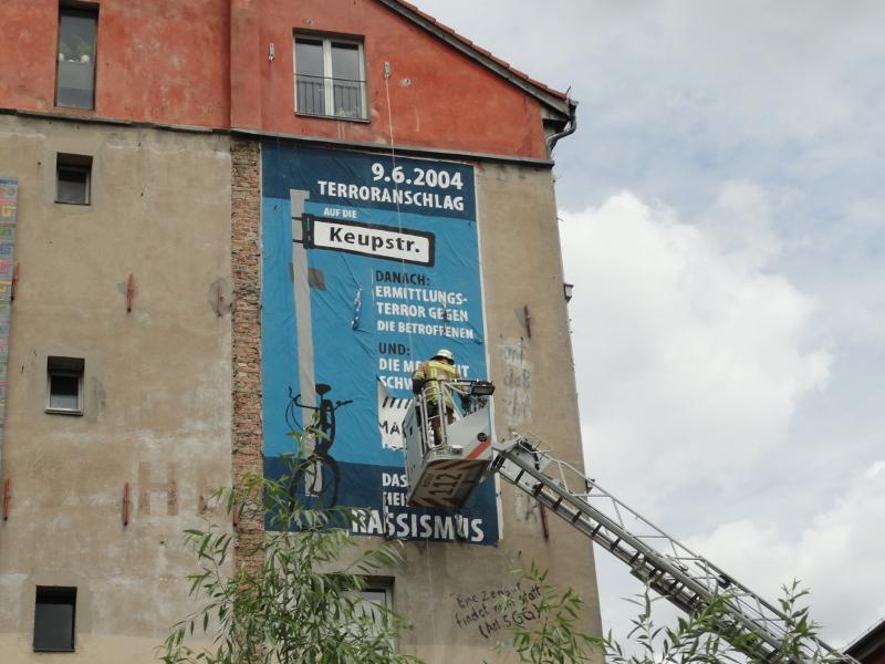 Skandal: Wandbild zum NSU-Terror zerstört