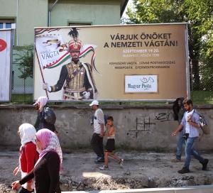 ungarn geflüchtete vor plakat