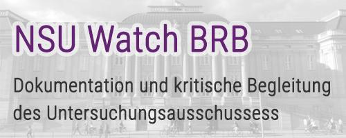 """""""NSU-Watch Brandenburg"""" nimmt Arbeit auf"""