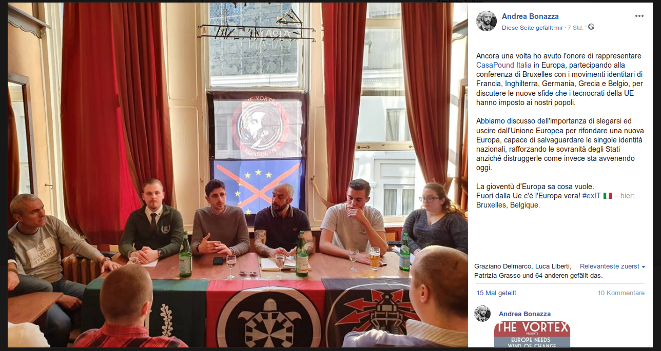 "info for 080af d733b 30.03.2019 — ""The Vortex Londinium""-Konferenz in Brüssel mit Konstantinos  Boviatsos, Julian Bender, Francesco Susinno, Andrea Bonazza, Valentin  Linder und ..."