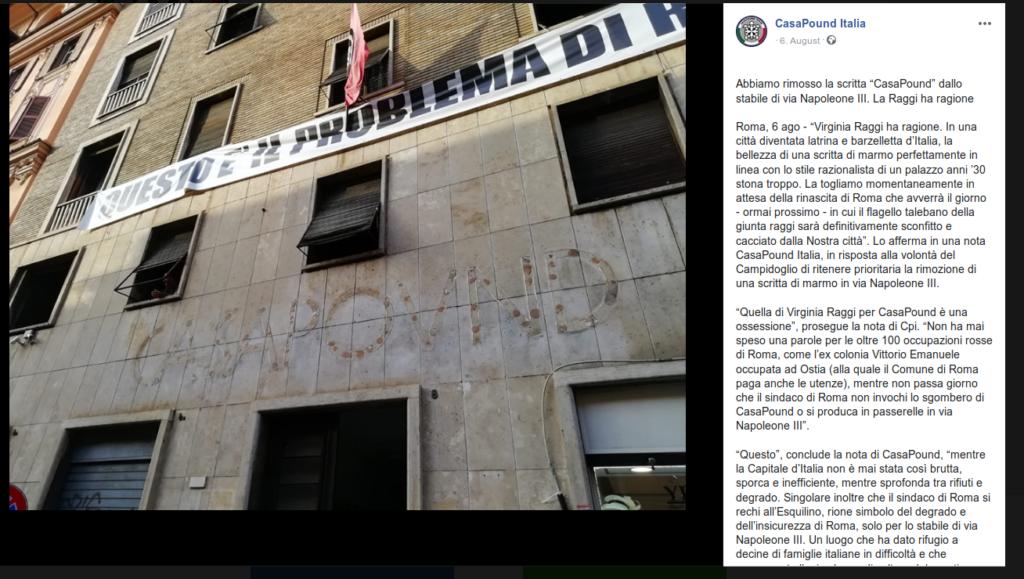 CasaPound Italia in der Krise