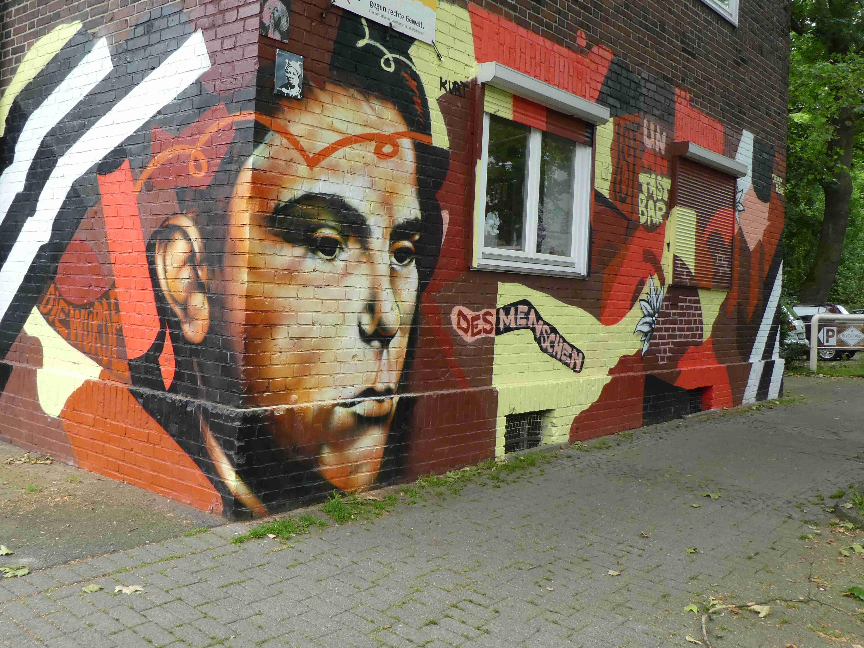 Kurt Piehl-Graffito in der Langestraße/Dortmund (Foto: H.Koch)