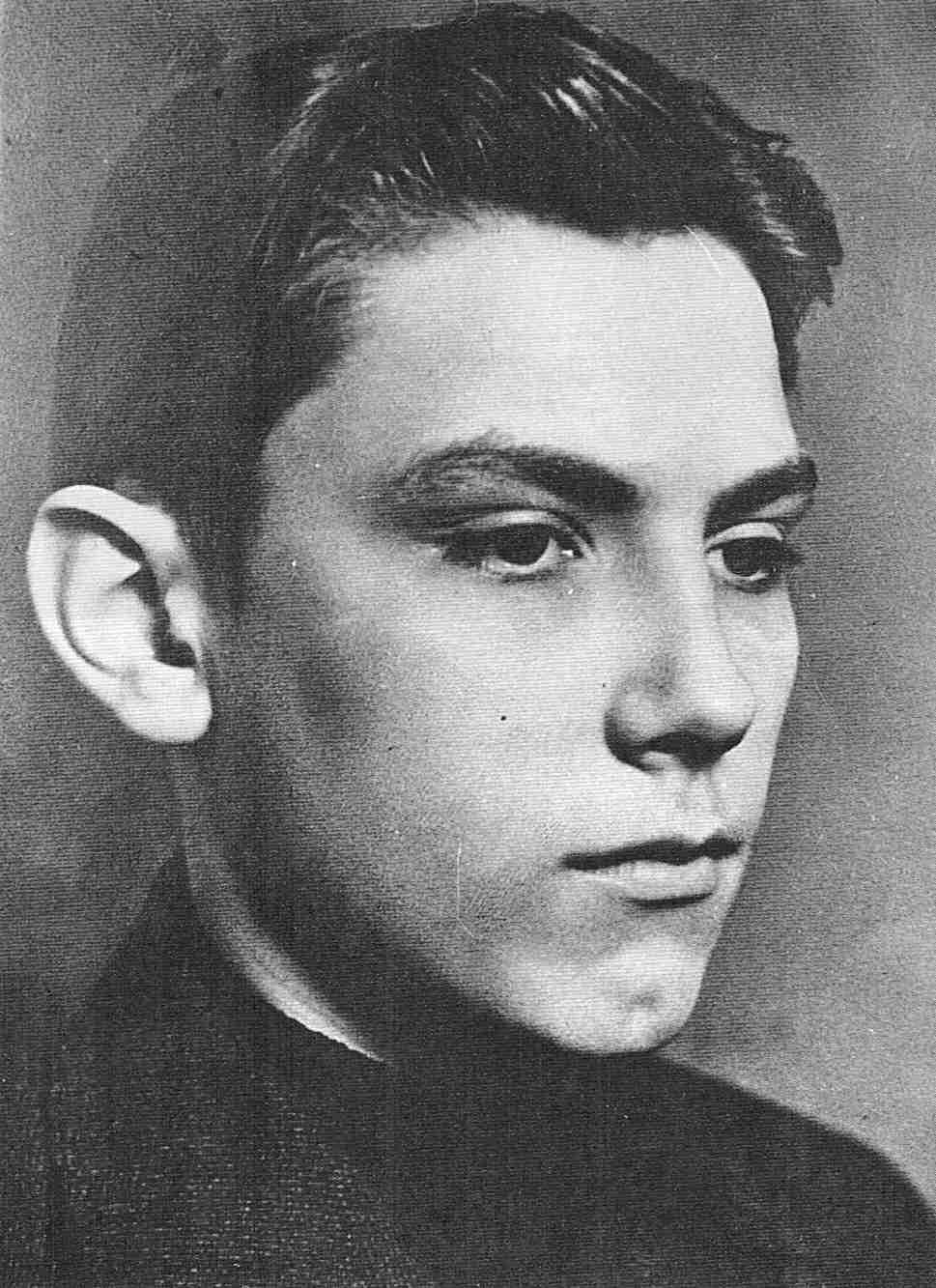 Edelweisspirat Kurt Piehl im Alter von 16 Jahren.